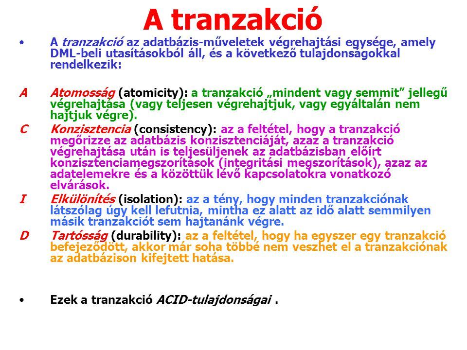 1.Meghatározzuk a befejezett tranzakciókat (COMMIT).