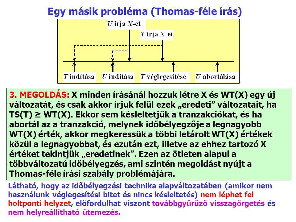 Egy másik probléma (Thomas-féle írás) 3.