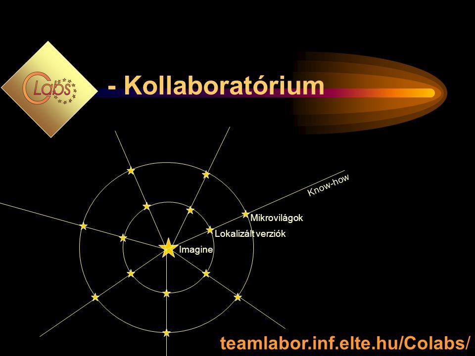 Imagine Lokalizált verziók Mikrovilágok Know-how teamlabor.inf.elte.hu/Colabs/ - Kollaboratórium