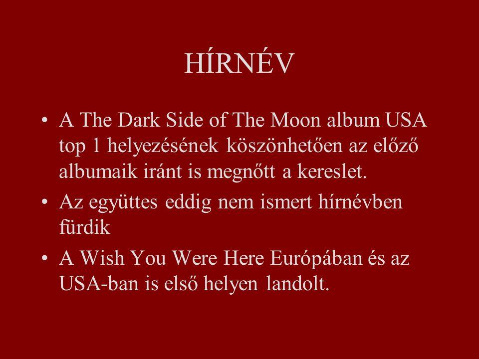 HÍRNÉV A The Dark Side of The Moon album USA top 1 helyezésének köszönhetően az előző albumaik iránt is megnőtt a kereslet.