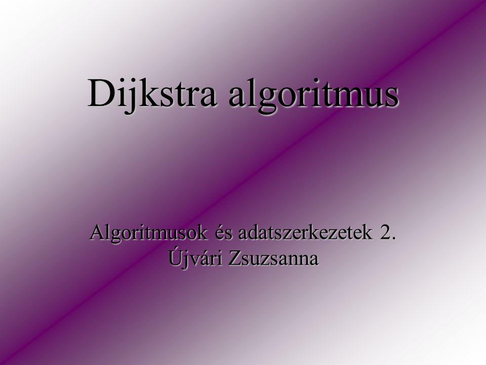 Dijkstra algoritmus Algoritmusok és adatszerkezetek 2. Újvári Zsuzsanna