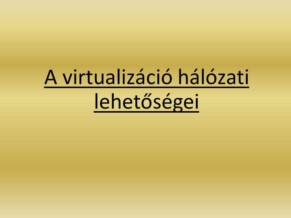 A virtualizáció hálózati lehetőségei