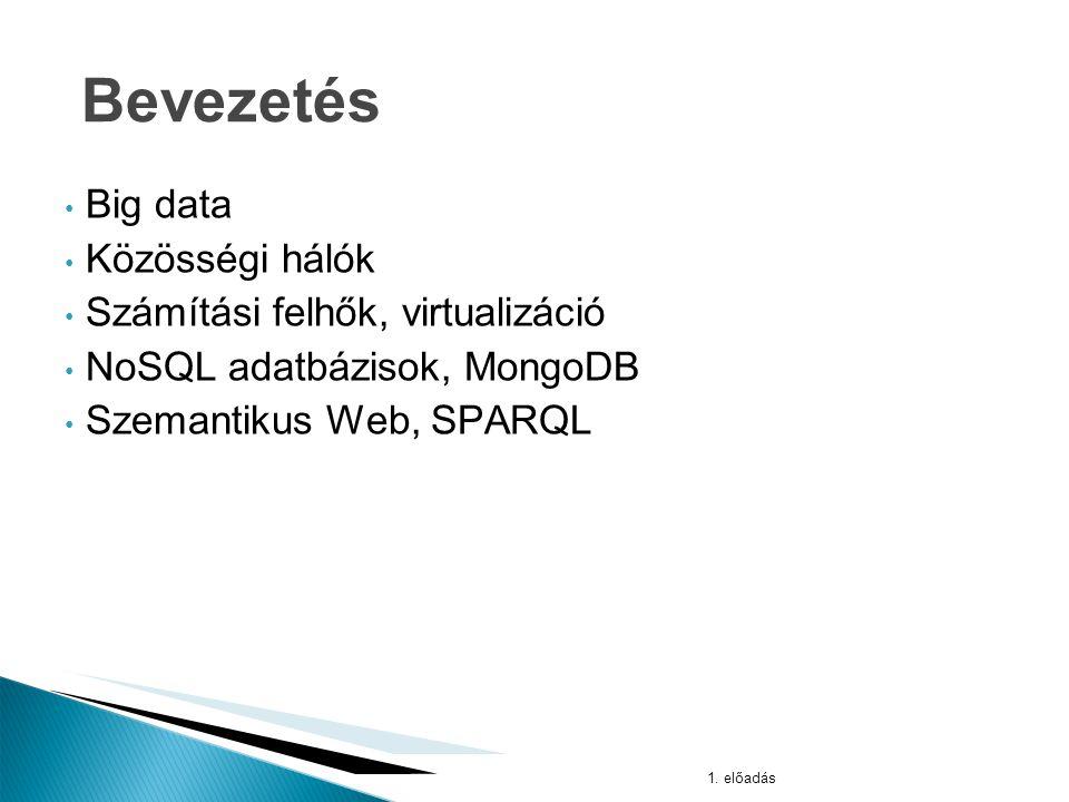 A 2012-es londoni olimpia alatt generált adatok 1. előadás Big data