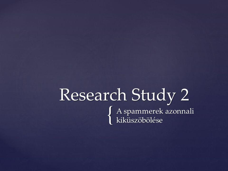 { A spammerek azonnali kiküszöbölése Research Study 2