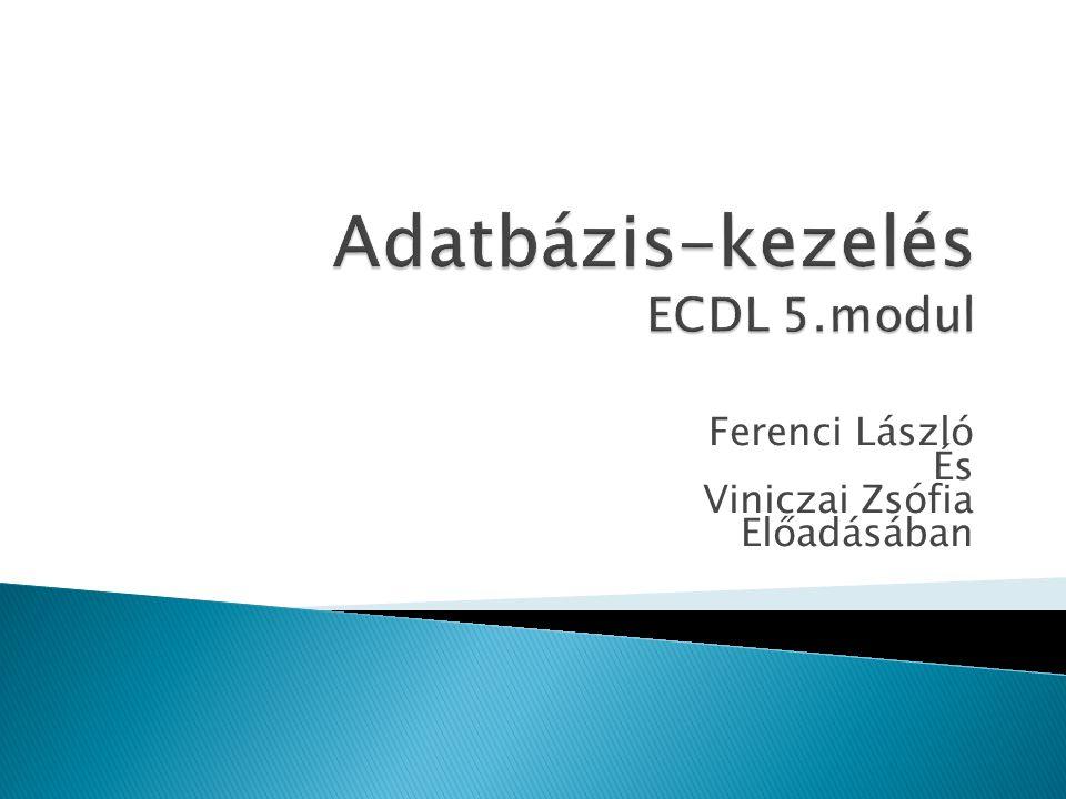 Ferenci László És Viniczai Zsófia Előadásában
