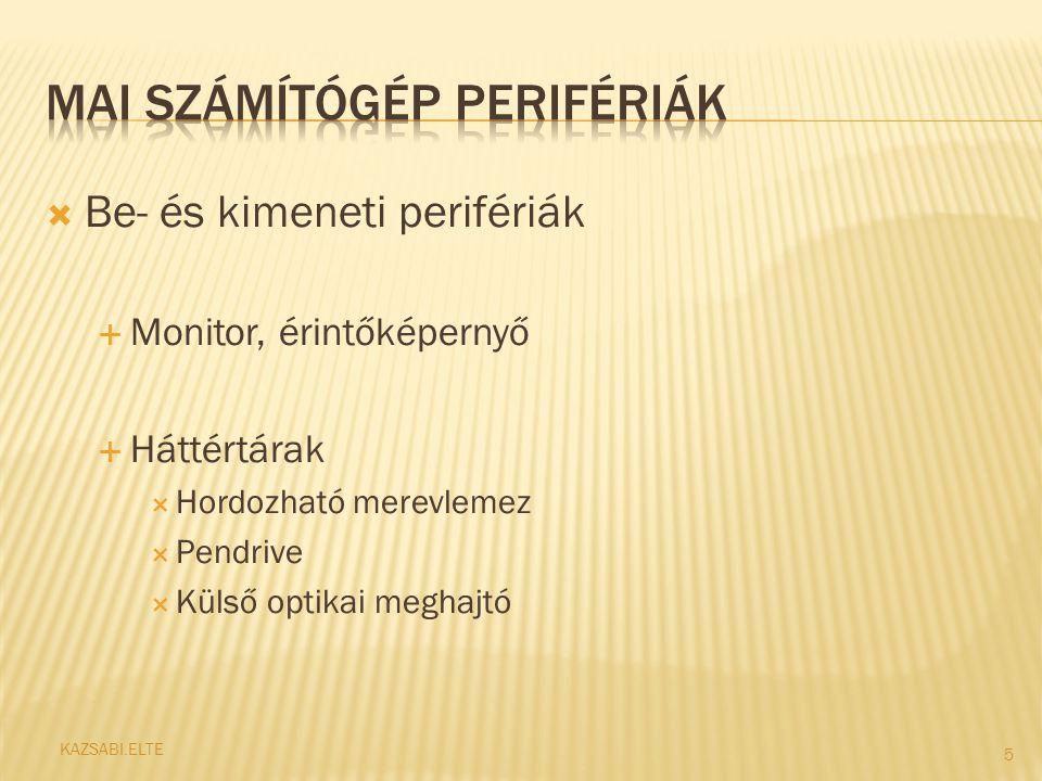  Perifériák fontosságát megmutató diagram 6 KAZSABI.ELTE