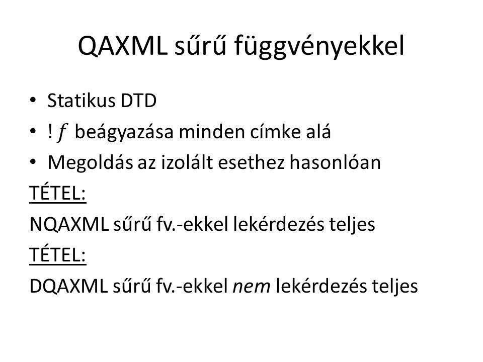 QAXML sűrű függvényekkel