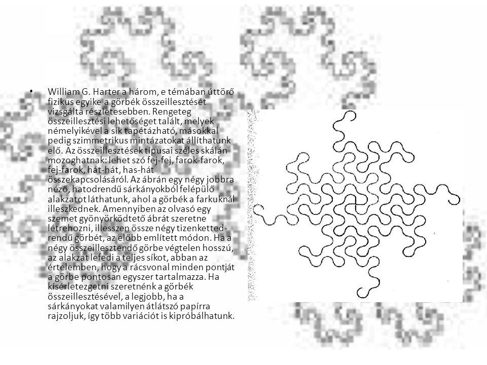 William G. Harter a három, e témában úttörő fizikus egyike a görbék összeillesztését vizsgálta részletesebben. Rengeteg összeillesztési lehetőséget ta