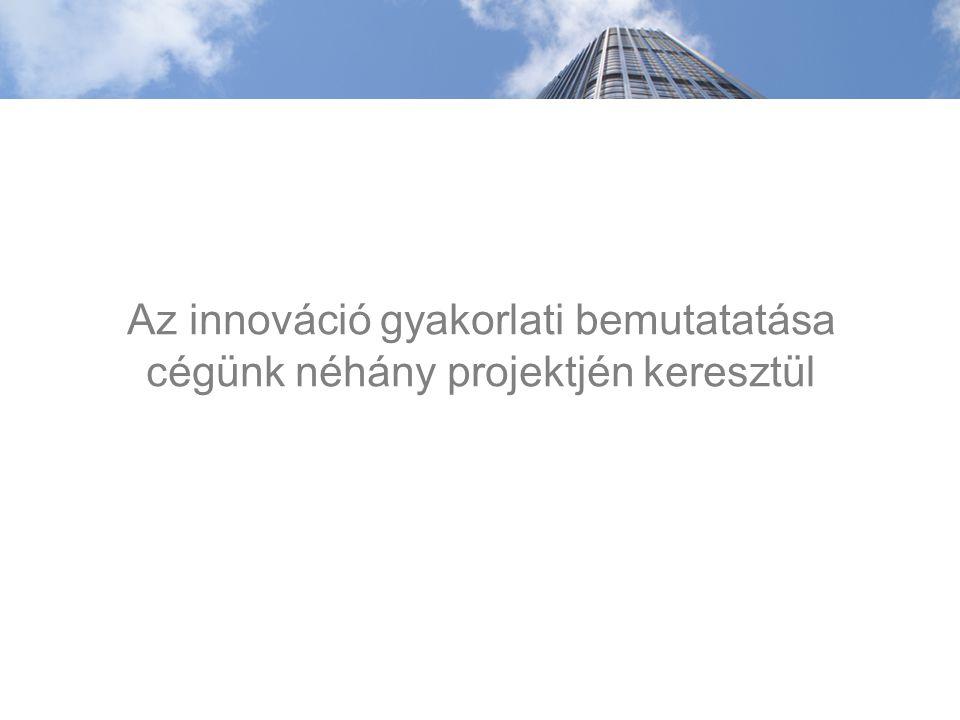 Az innováció gyakorlati bemutatatása cégünk néhány projektjén keresztül