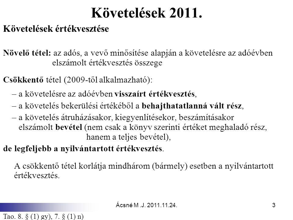 Ácsné M.J.2011.11.24.3 Követelések 2011.