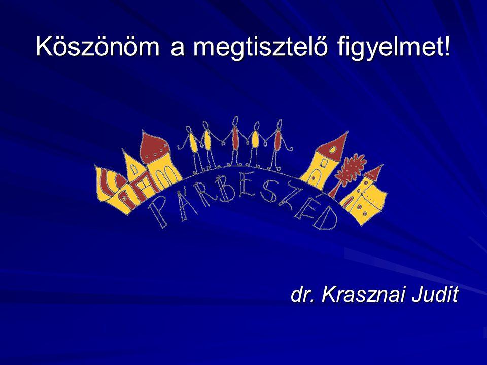 Köszönöm a megtisztelő figyelmet! dr. Krasznai Judit