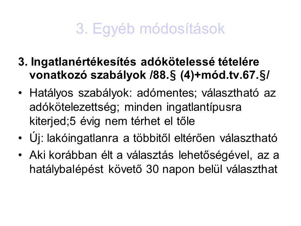 3. Egyéb módosítások 3.