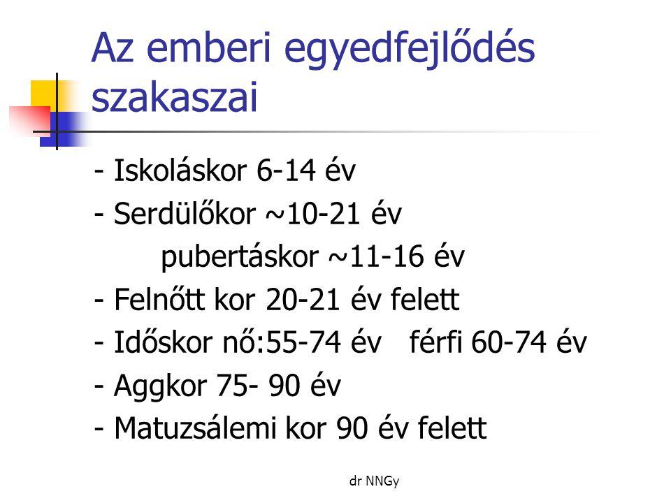 Belső - Nem Nő: hamarabb érnek ( csontosodásuk újszülött kortól előrébb jár, szexuálisan is hamarabb érnek ), medence szélesebb, alacsonyabbak stb.