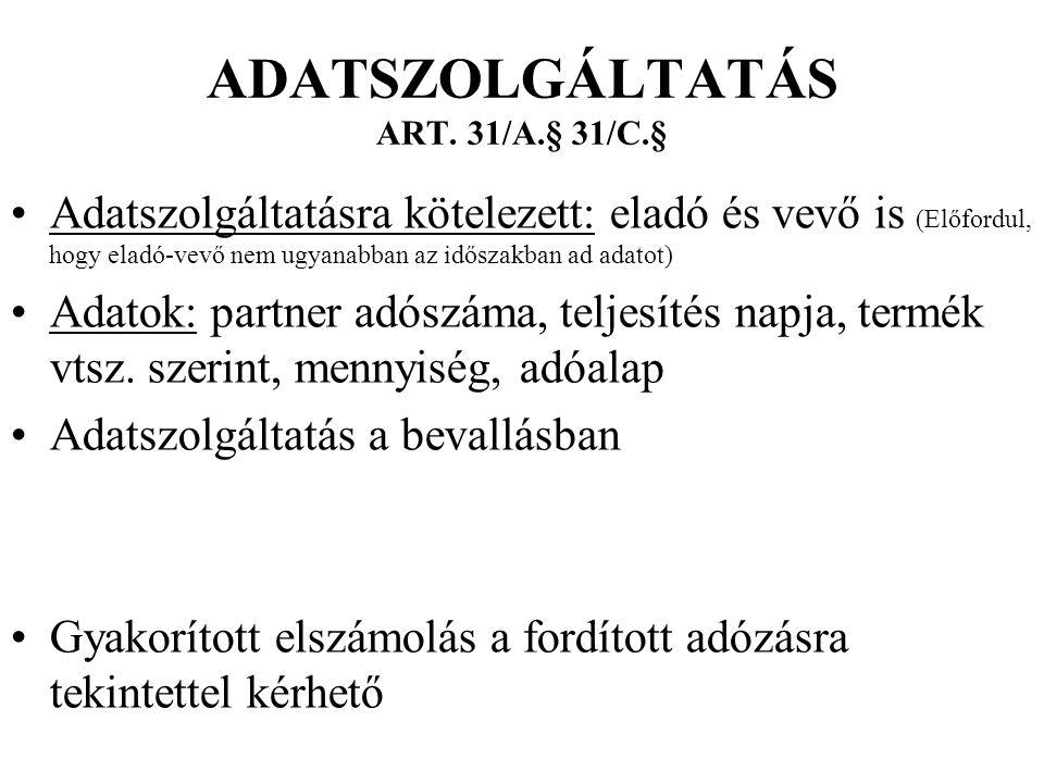 ADATSZOLGÁLTATÁS ART.