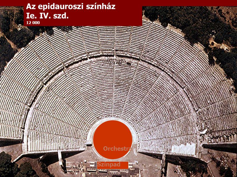 Az epidauroszi színház Ie. IV. szd. 12 000 Orchestra Színpad