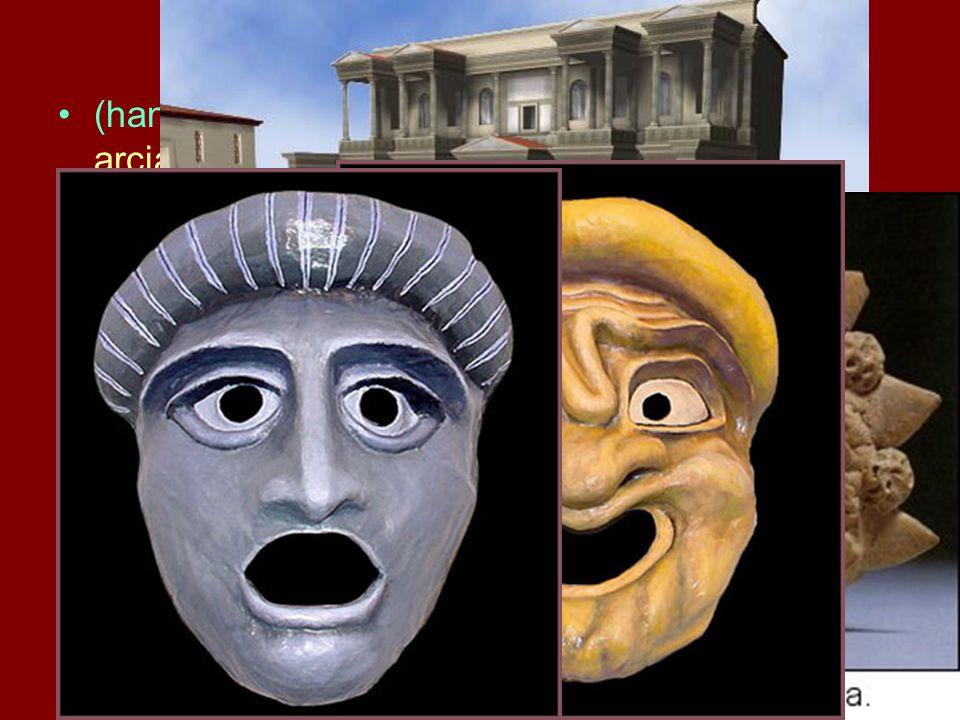 (hangerősítésre alkalmas?) maszk - nincs arcjáték bő papi tóga, (magasított talpú?) koturnus, emelő és lebegtető szerkezetek A díszlet nem változik (p