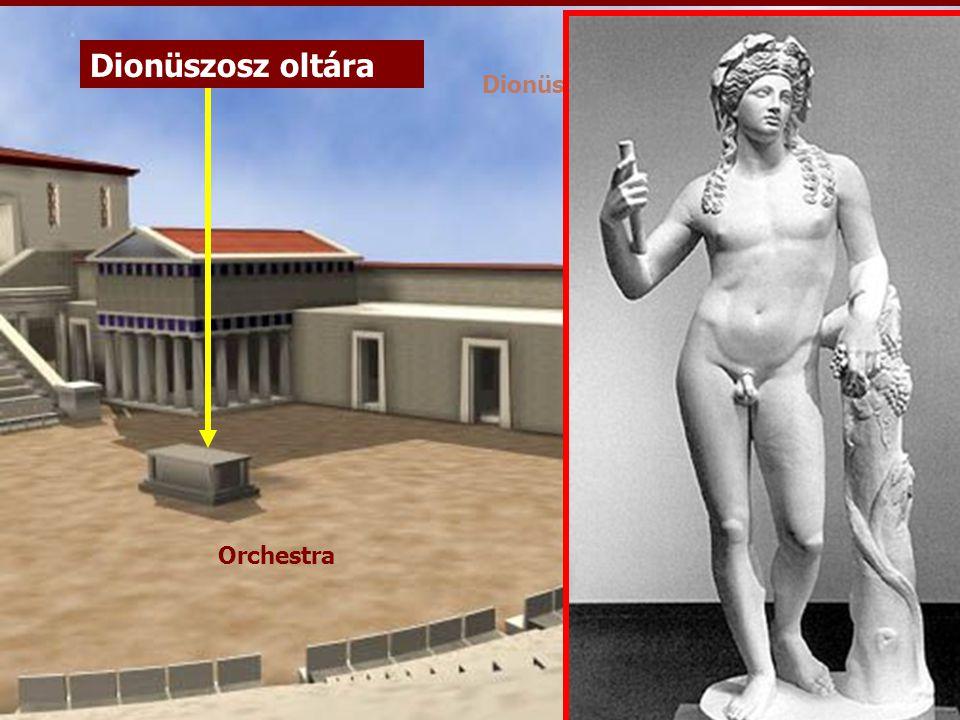 dioniszosz Dionüszosz oltára Orchestra Dionüszosz-színház (rekonstrukció)