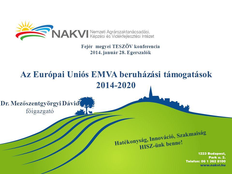 Az Európai Uniós EMVA beruházási támogatások 2014-2020 Dr.