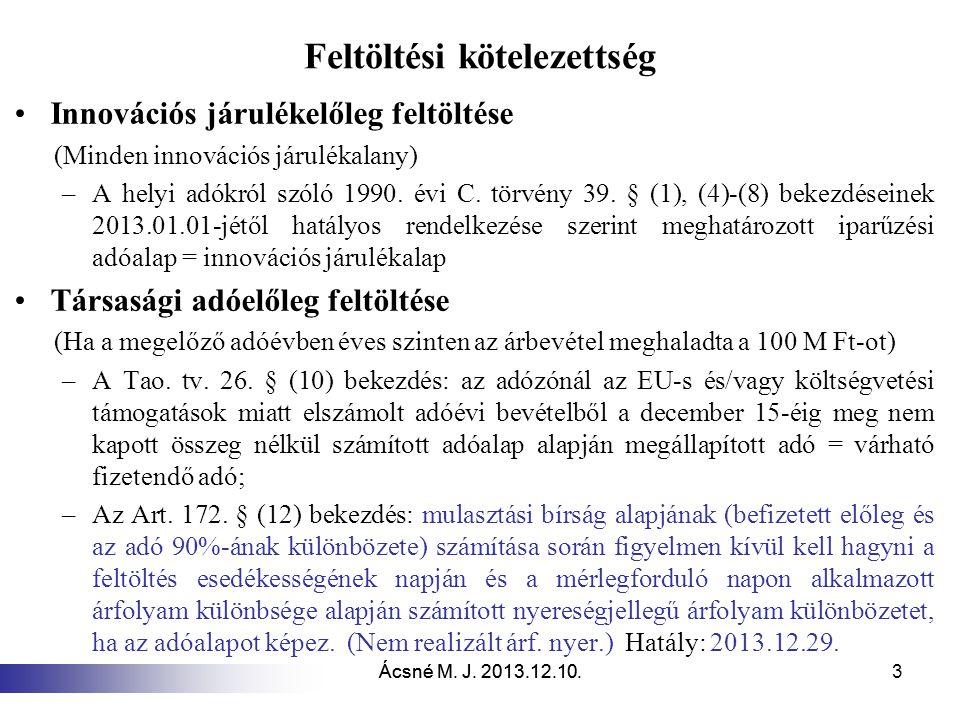 Ácsné M.J. 2013.12.10. 24 Közhasznú nonprofit gazdasági társaság.