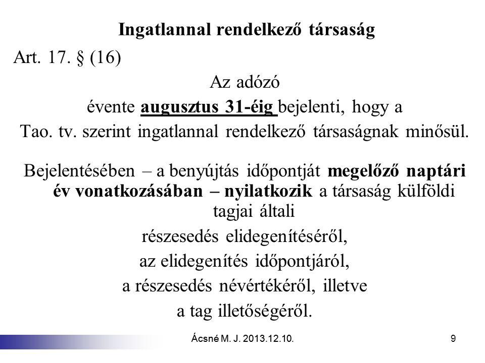 Ácsné M.J. 2013.12.10. 40 Kiva túlfizetés visszatérítése 20.