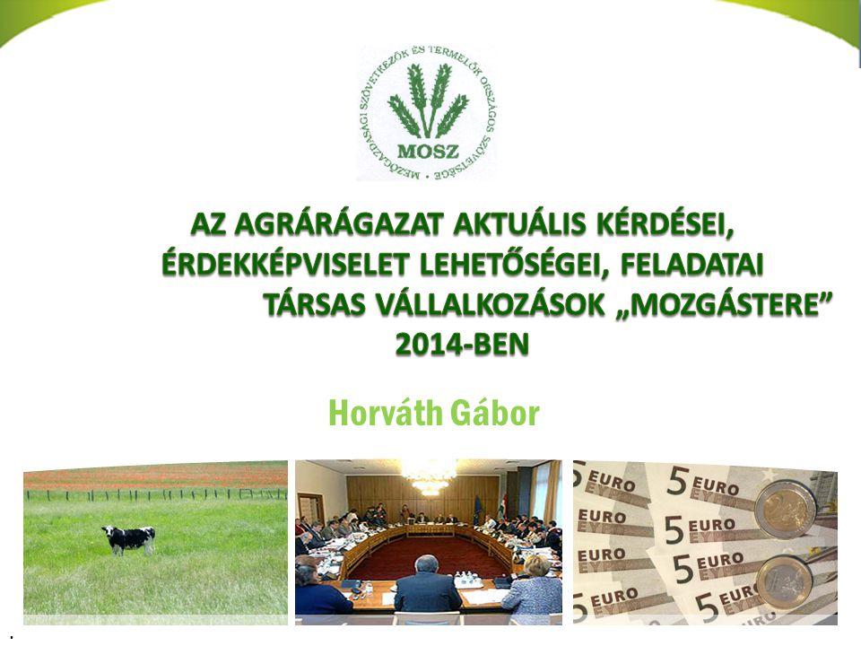 Zavarodott időszak az EU agrárpolitikájában 3.