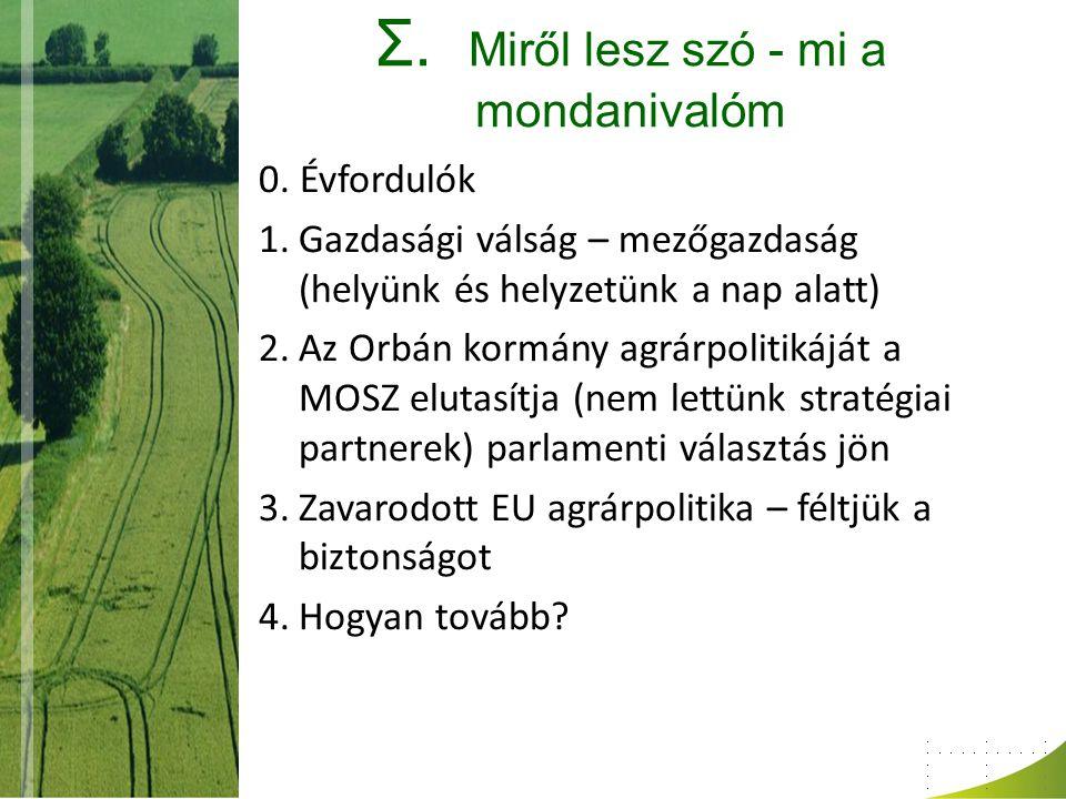 Zavarodott időszak az EU agrárpolitikájában 4.
