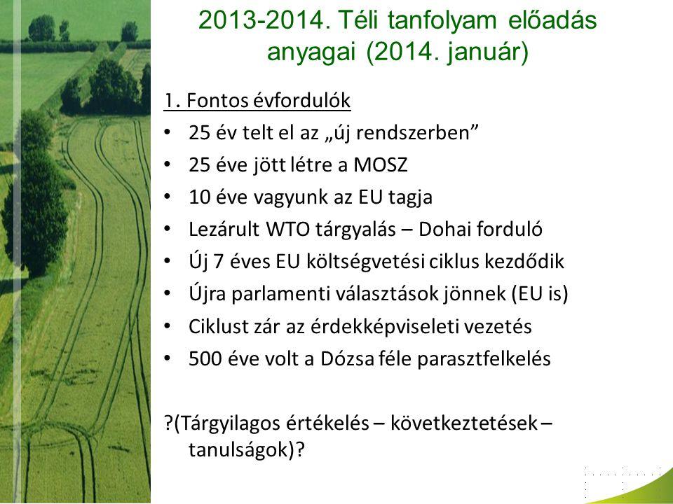 A mezőgazdaság a válság idején (2013.) 2.