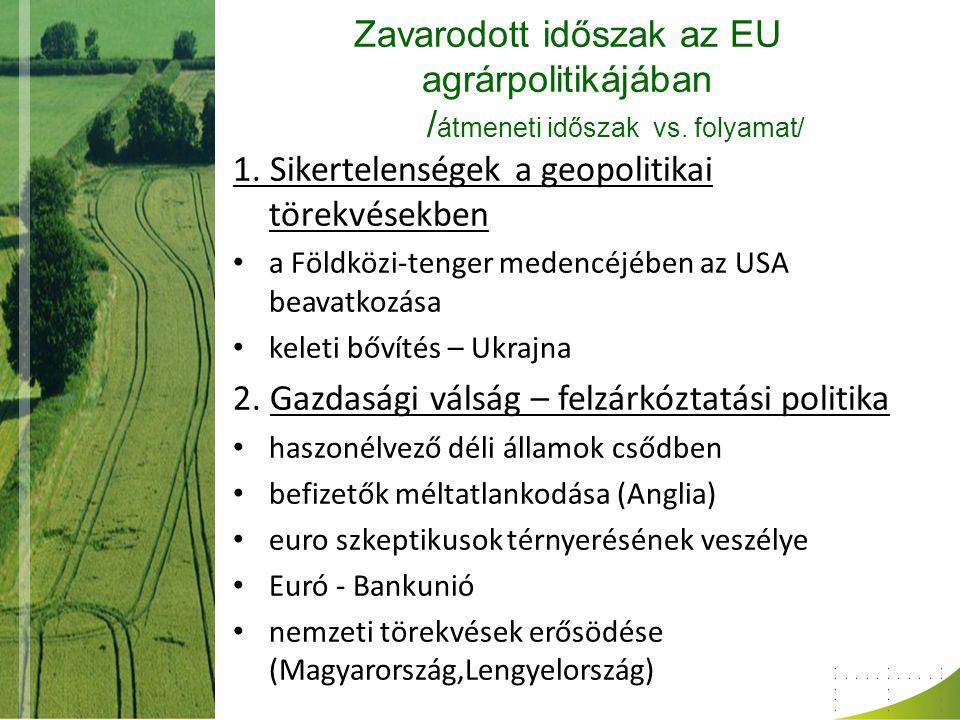 Zavarodott időszak az EU agrárpolitikájában / átmeneti időszak vs.