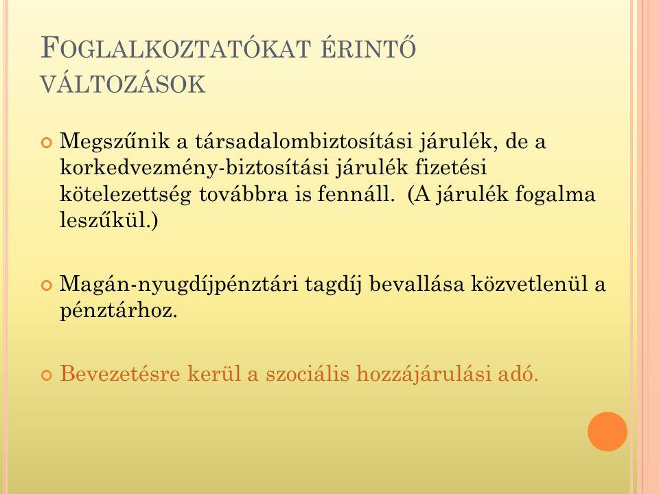 A KIFIZETŐ ÁLTAL FIZETENDŐ S ZOCHO.