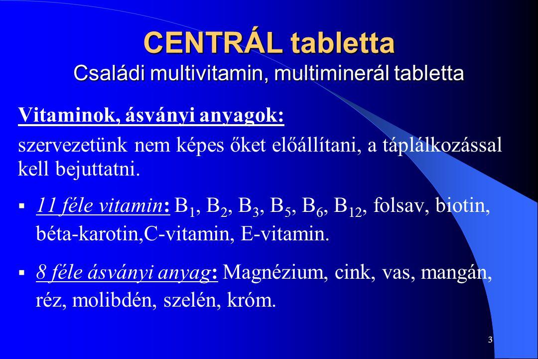 2 A Family Business termékei  CENTRÁL tabletta - a jó közérzetért  CORVISAN tabletta - az egészséges szívért  FEMENOSAN tabletta - az egészséges vá