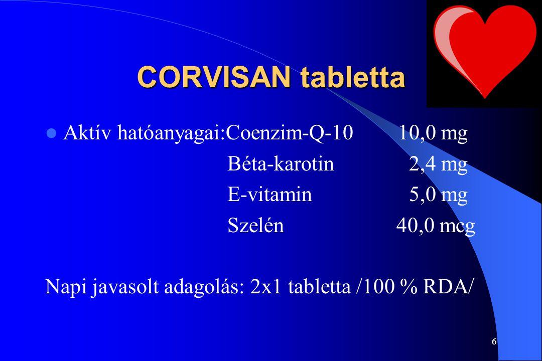 5 CENTRÁL tabletta Adagolás: Napi 1-2 tabletta