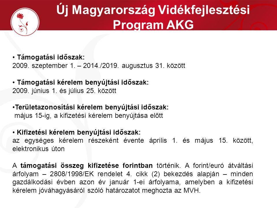 Vis maior esetek Az AKG intézkedés esetén az előzőeken túl: az osztatlan közös tulajdon megszüntetése után a 63/2005.