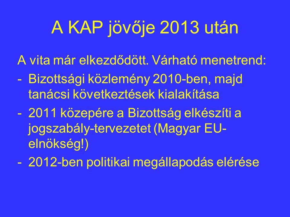 A KAP jövője 2013 után A vita már elkezdődött.
