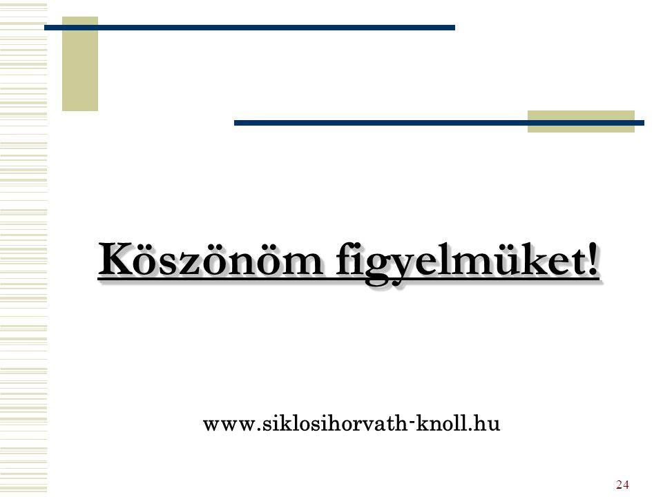 24 Köszönöm figyelmüket! www.siklosihorvath-knoll.hu