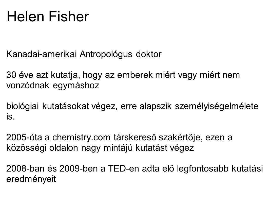 Helen Fisher Ismeretterjesztő könyve: Helen Fisher Why Him.