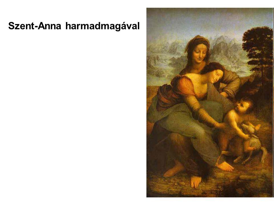 A Szent Anna harmadmagával: A korai reneszánsz festmények éles rajzosságával szemben- a távolság, a levegőperspektíva éreztetése érdekében- Leonardo kissé elmosta a kontúrvonalakat.