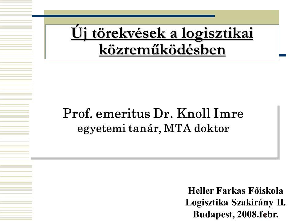 1 Prof. emeritus Dr.