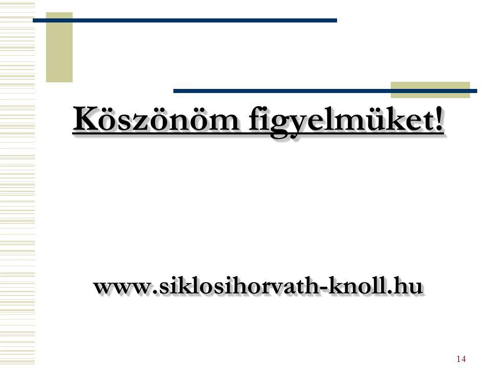 14 Köszönöm figyelmüket! www.siklosihorvath-knoll.hu