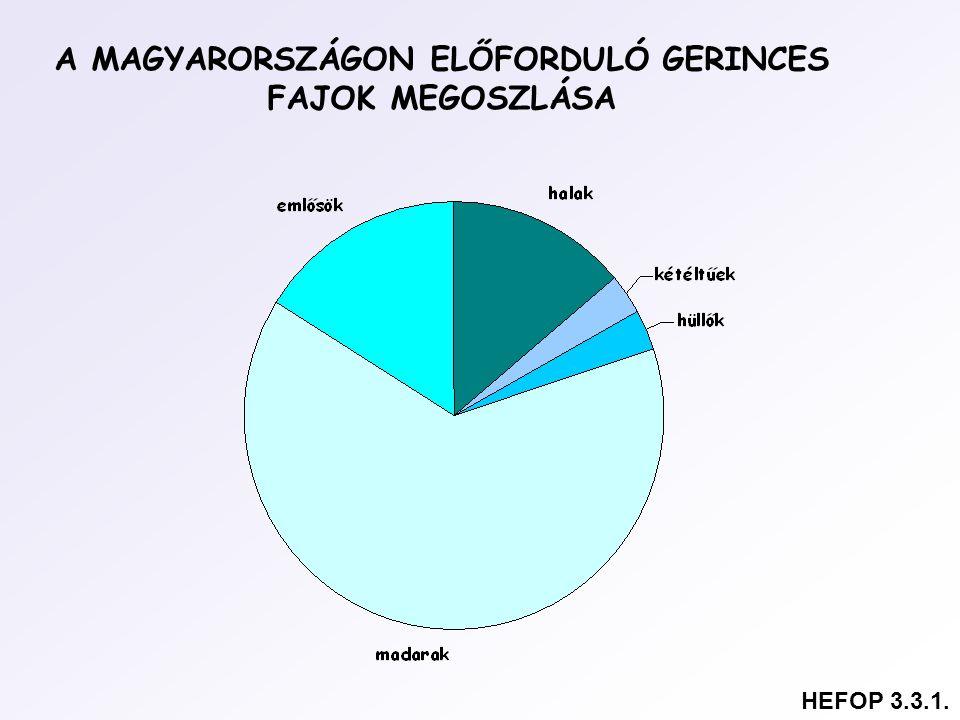 A MAGYARORSZÁGON ELŐFORDULÓ GERINCES FAJOK MEGOSZLÁSA HEFOP 3.3.1.