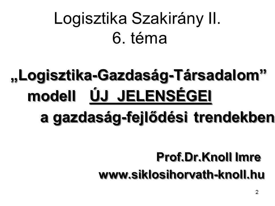 2 Logisztika Szakirány II.6.