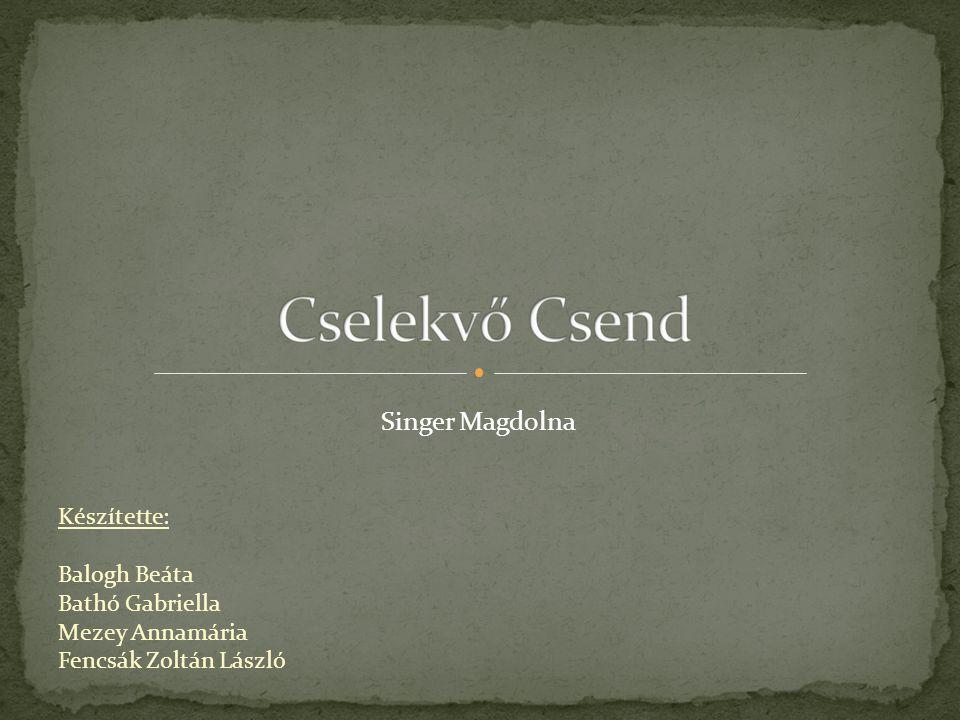 Készítette: Balogh Beáta Bathó Gabriella Mezey Annamária Fencsák Zoltán László Singer Magdolna