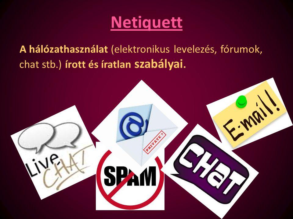 Hálózat használat szabályai – 1.Sose élj vissza más postafiókjával, azonosítójával, jelszavával.