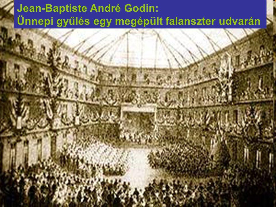 Jean-Baptiste André Godin: Ünnepi gyűlés egy megépült falanszter udvarán