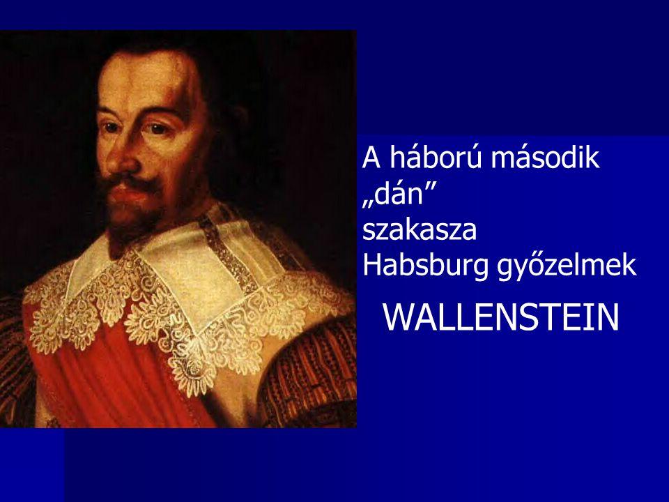 """A háború második """"dán"""" szakasza Habsburg győzelmek WALLENSTEIN"""