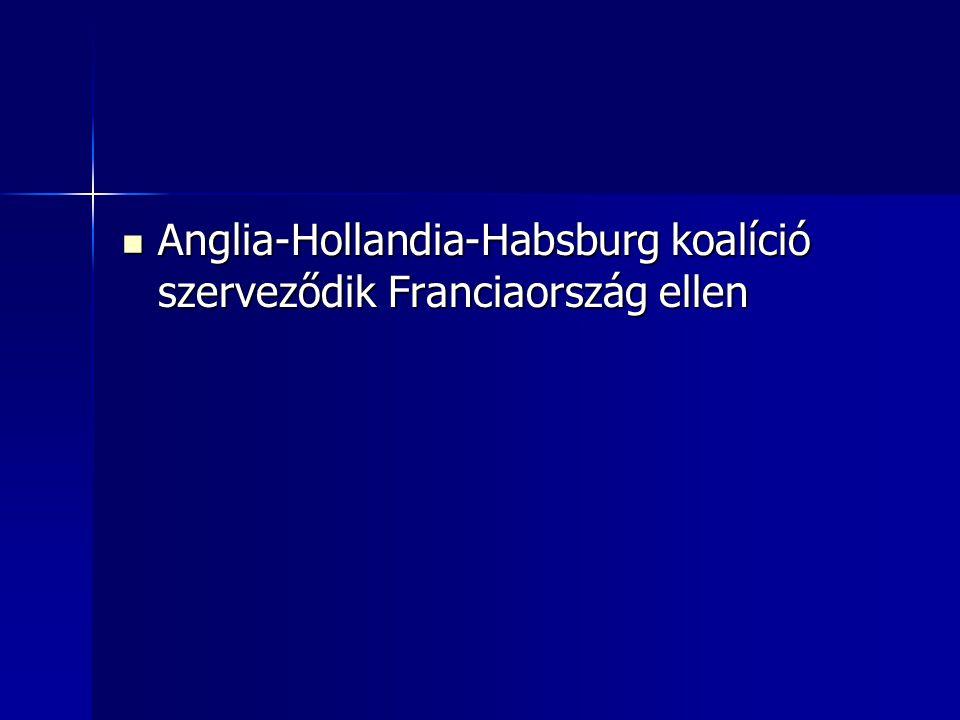 Anglia-Hollandia-Habsburg koalíció szerveződik Franciaország ellen Anglia-Hollandia-Habsburg koalíció szerveződik Franciaország ellen