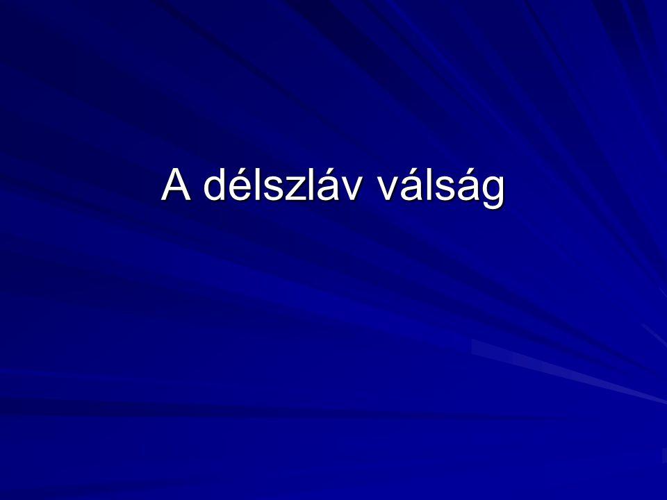 A délszláv válság