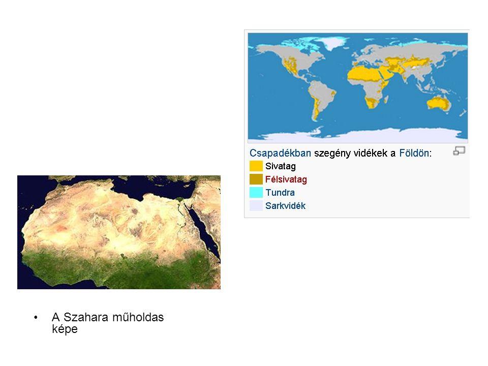 A Szahara műholdas képe