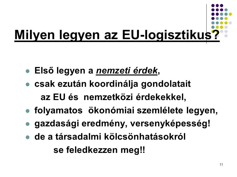 11 Milyen legyen az EU-logisztikus.