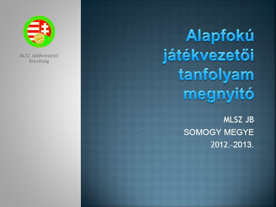 MLSZ JB SOMOGY MEGYE 2012.-2013. MLSZ Játékvezetői Bizottság