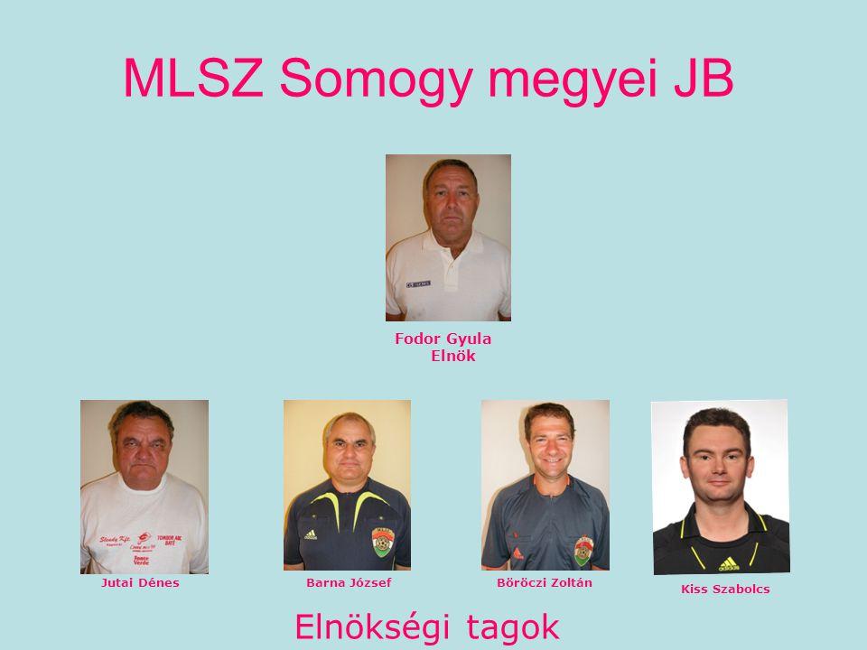 MLSZ Somogy megyei JB Fodor Gyula Elnök Jutai DénesBarna JózsefBöröczi Zoltán Kiss Szabolcs Elnökségi tagok